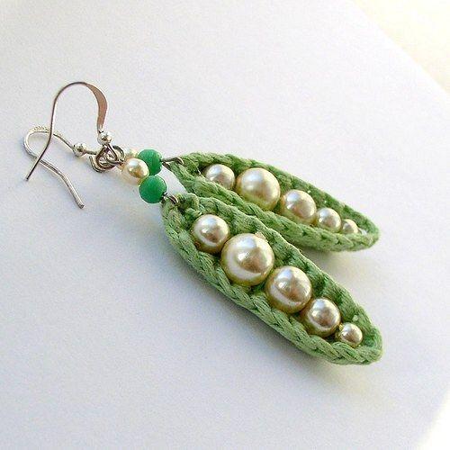 crochet earrings  ༺✿ƬⱤღ✿༻: