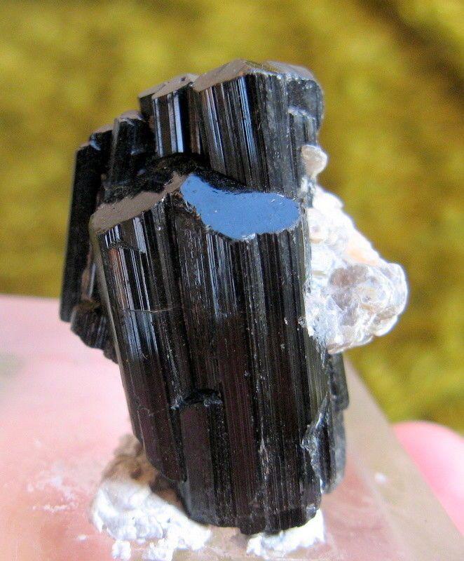 Natural Black tourmaline with Albite