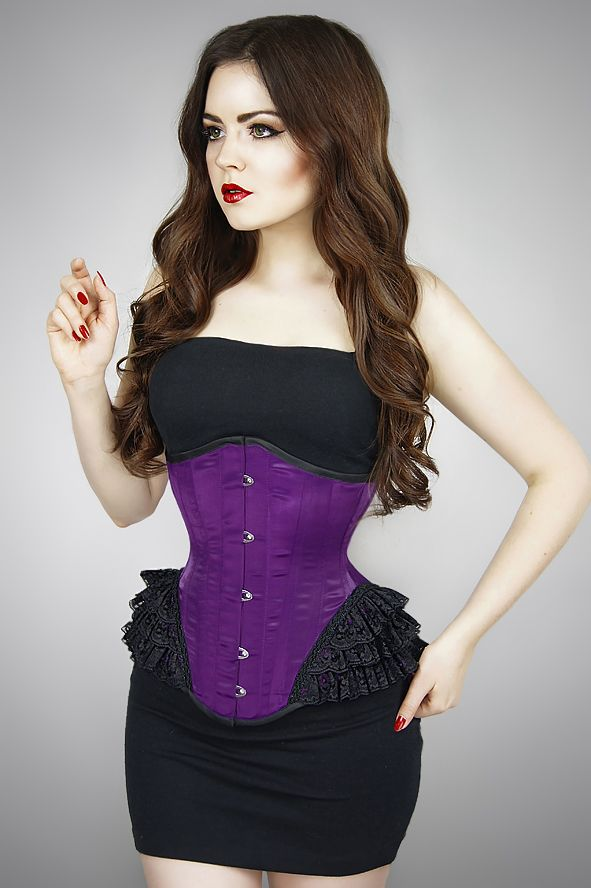 UNDERBUST PURPLE MERMAID. PaperCatsCorsets.pl