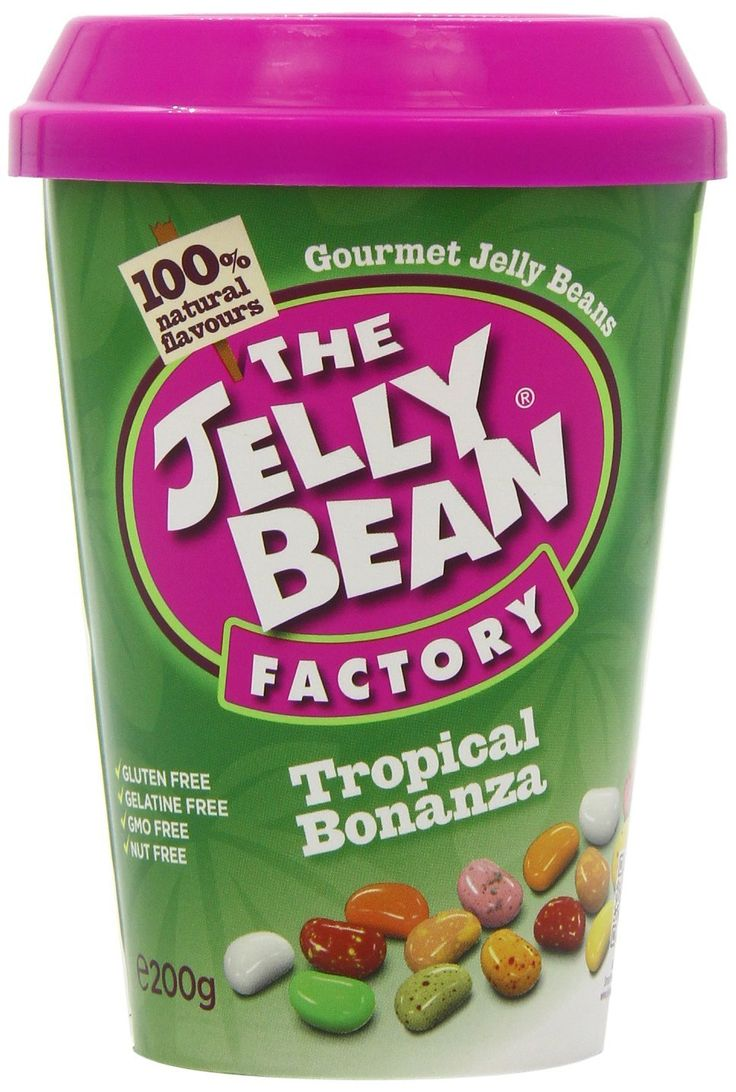 The Jelly Bean Factory Cup of Tropical Bonanza Jelly Beans 200 g (Pack of 3)
