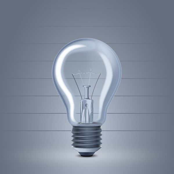How to create a Light Bulb in Adobe Illustrator Tutorial