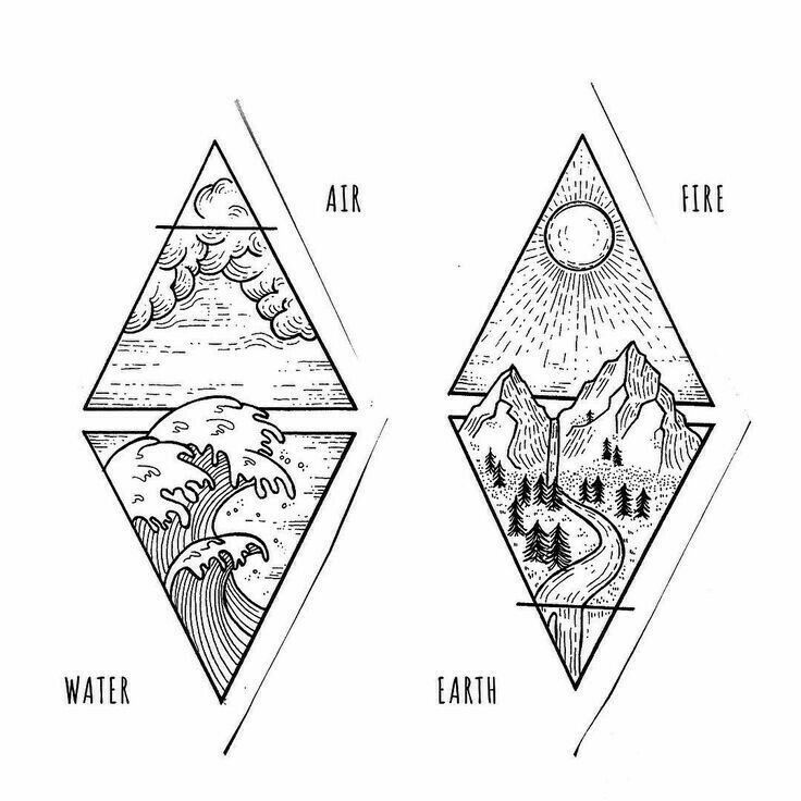 I want this for the back of each leg, one triangle above the knee one below or on my calf