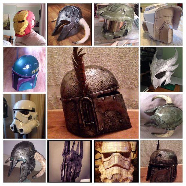 Diy homemade halloween and cosplay costumes and resources like these helmets