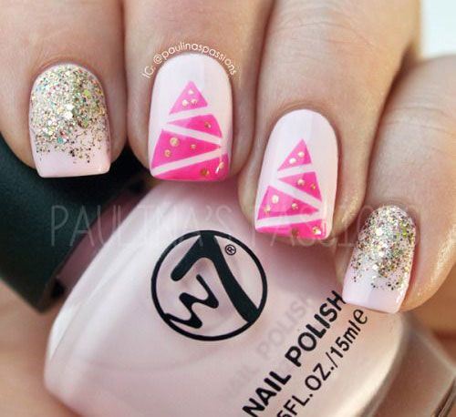 63 best christmas tree nail art images on pinterest christmas christmas tree nail art designs simple prinsesfo Choice Image