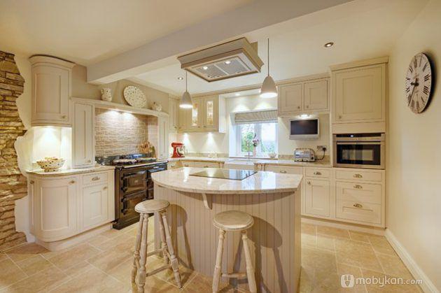 صور مطابخ حديثه و اشكال مطابخ مودرن و مميزه من موبيكان Beige Kitchen Kitchen Design Kitchen