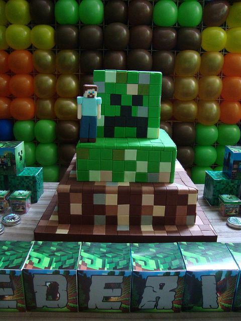 Bolo Minecraft | Flickr - Photo Sharing!: Cakes Decor, Minecraft Cakes, Photos Shared