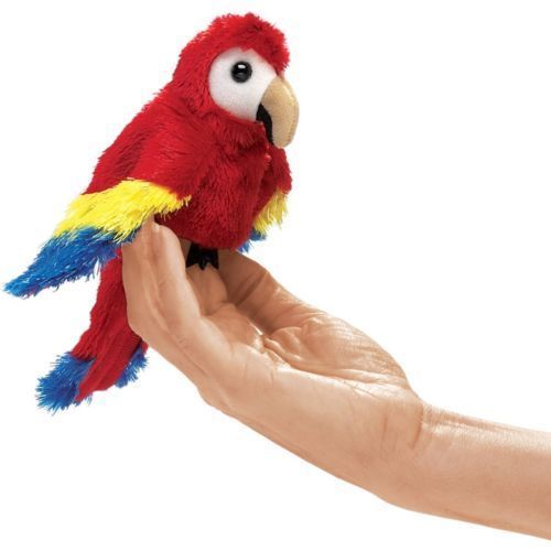 Designer Folkmanis Scarlet Macaw Finger Puppet New Great Gift  | eBay