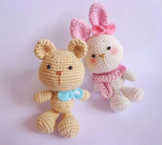 Amigurumi Kawaii Free Patterns : Kawaii Rabbit Amigurumi PDF Pattern