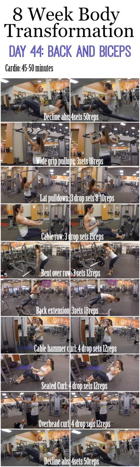 8+Week+Body+Transformation:+Day+44+BACK+and+BICEPS+–+Fitness+Food+Diva