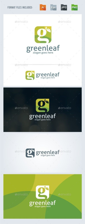 Green Leaf G Letter Logo Template