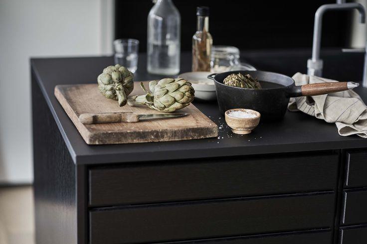 Form 1 // Black oak kitchen island. An iconic design by Danish designer Carsten Michelsen.