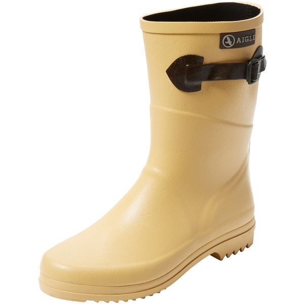 Aigle Aigle Women's Chanteboot Pop Short Rain Boot - Light/Pastel... ($119) ❤ liked on Polyvore featuring shoes, boots, short rubber boots, wellies boots, faux-fur boots, brown platform boots and rubber rain boots