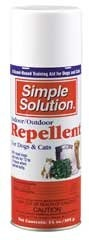 $6.77-$21.00 Brampton Company Indoor Outdoor Repellent for Dogs and Cats 14oz - How many times have you said this one: What can I do to keep my dog from urinating in that same spot? SIMPLE SOLUTION Indoor/Outdoor Repellent will help you change your pet's undesirable habits. The repellent keeps pets and stray animals away from forbidden areas including furniture, rugs, flower gardens, garbage cans ...