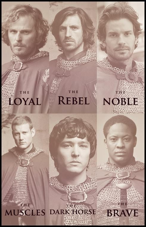 """The knights. Lol I like how Percival is the muscles. Personally I would have written """"the sleeveless"""""""