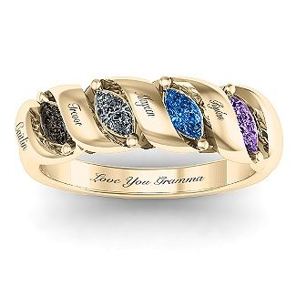 Spiral Marquise Row Ring Spiral Ring And Mother Rings