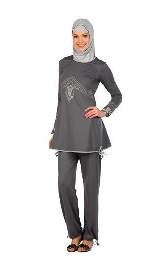 Fully Covered Islamic Swimwear Swim Suit Burkini