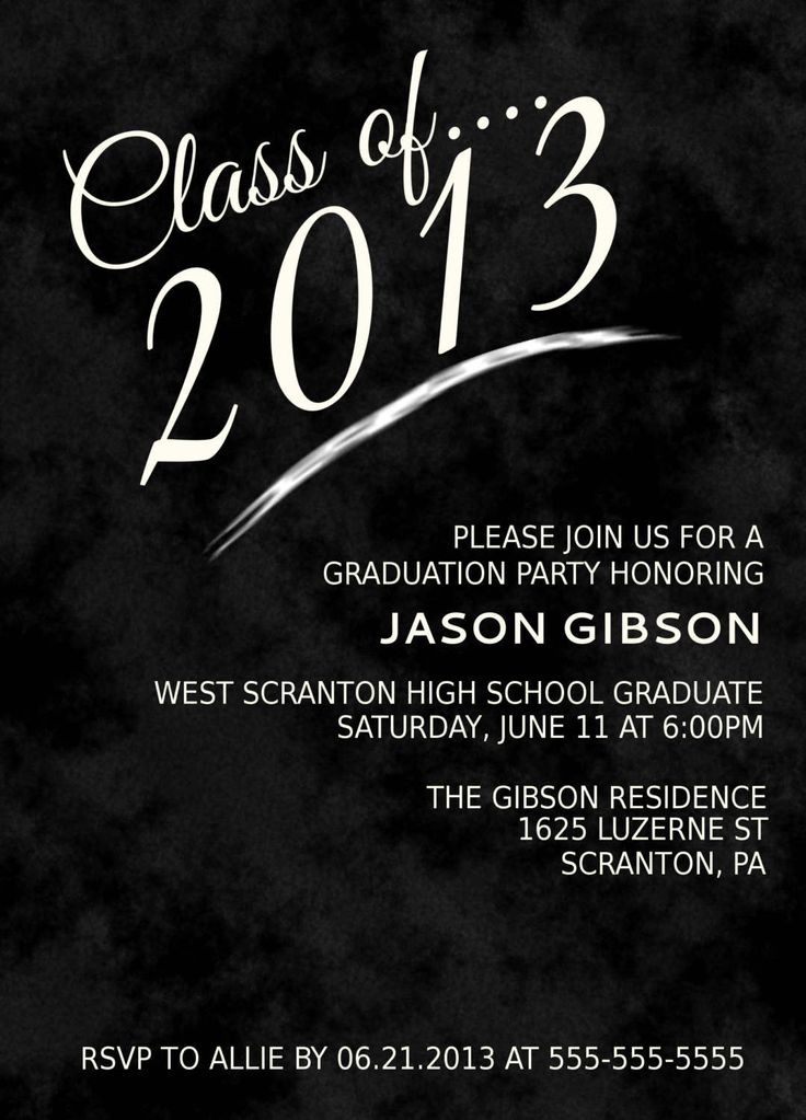 The 25 best Free printable graduation invitations ideas on – Printable Graduation Invitation Templates