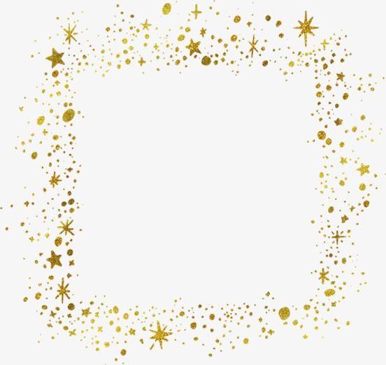 Gold Stars Border Golden Star Frame Png Transparent