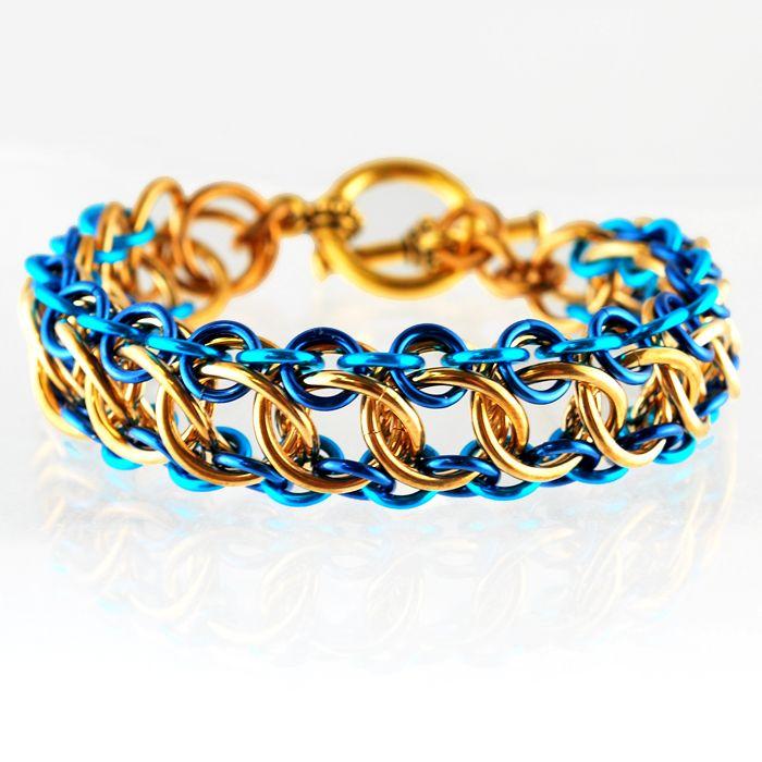 Chainmaille DIY Jewelry Class Zeela Bracelet 01/09/14 Chicago | Rebeca Mojica | Blue Buddha Boutique