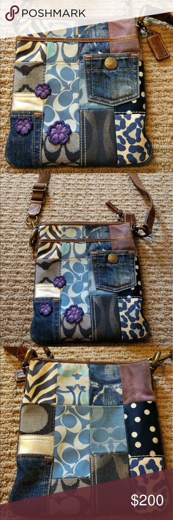 ISO Coach Denim Patchwork crossbody swing Tag if you see one or have one you'd be willing to sell.. I know these are really old now but I'm keeping my fingers crossed Coach Bags
