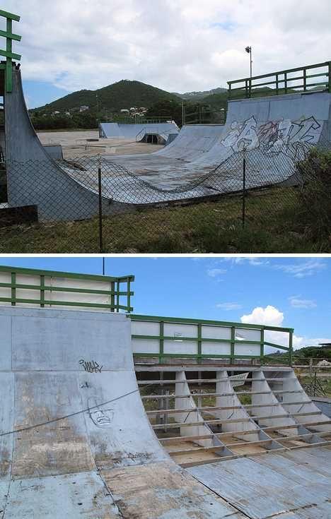 Caribbean Island of Saint-Martin  -abandoned skate park