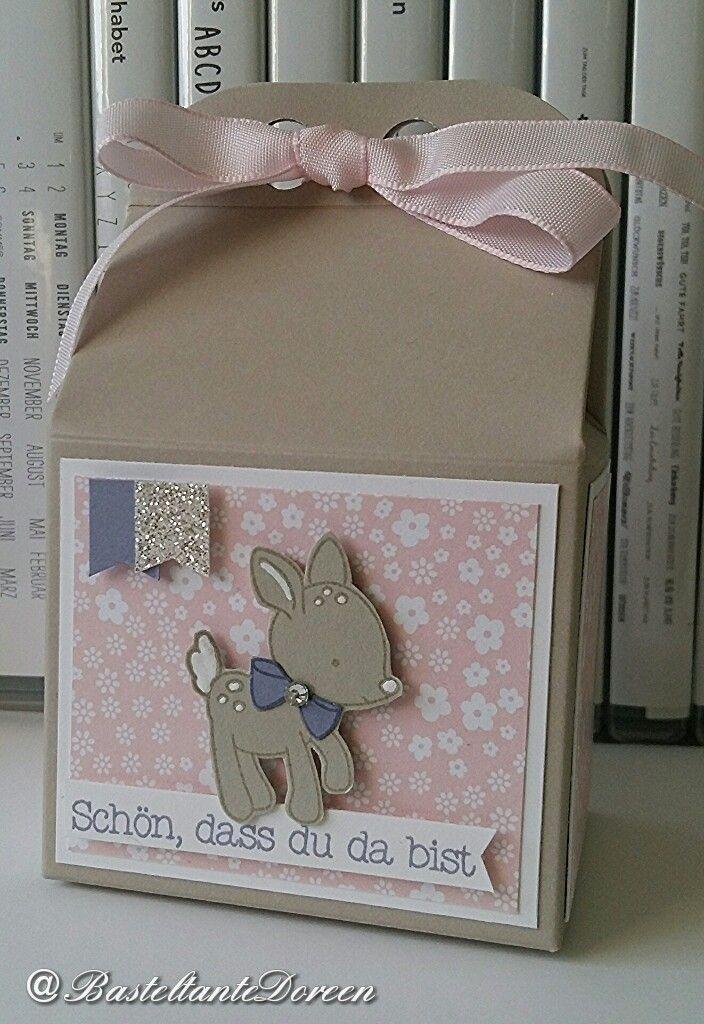 Kleine Verpackung zur Geburt - Set Ein kleiner Gruß - Zum Nachwuchs
