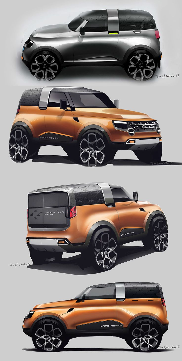 Land Rover GG Concept Design Sketch Renders by Tom Underhill
