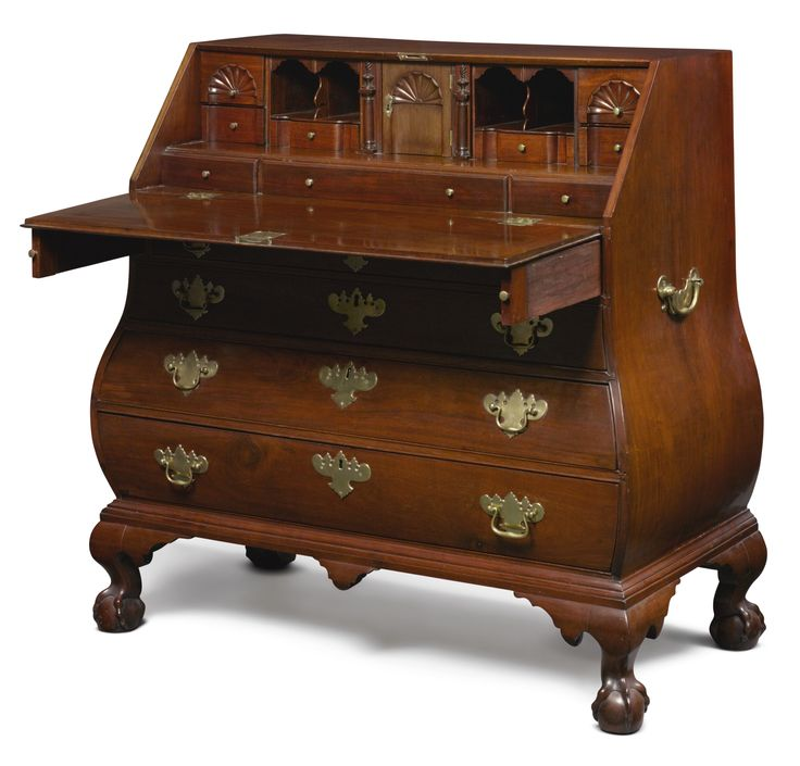 Chippendale Carved and Figured Mahogany Bombé Slant-Front Desk, Boston,  Massachusetts, circa - 1288 Best Antique Furniture Images On Pinterest Furniture