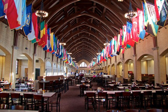 Inside of Perry Cafeteria on State Campus in Starkville, MS