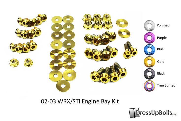 Our new Engine Bay Dress Up Bolts Titanium fastener kit for your 2002-2003 Subaru WRX/STi in Gold! http://www.dressupbolts.com/products/subaru-wrx-and-sti-2002-2003-gd-gg-titanium-dress-up-bolts-engine-bay-kit #‎subaru‬ ‪#‎wrx‬ ‪#‎sti‬ ‪#‎dress‬ ‪#‎up‬ ‪#‎bolts‬ ‪#‎dressupbolts‬ ‪#‎titanium‬ ‪#‎ti‬ ‪#‎fasteners‬ ‪#‎engine‬ ‪#‎bay‬