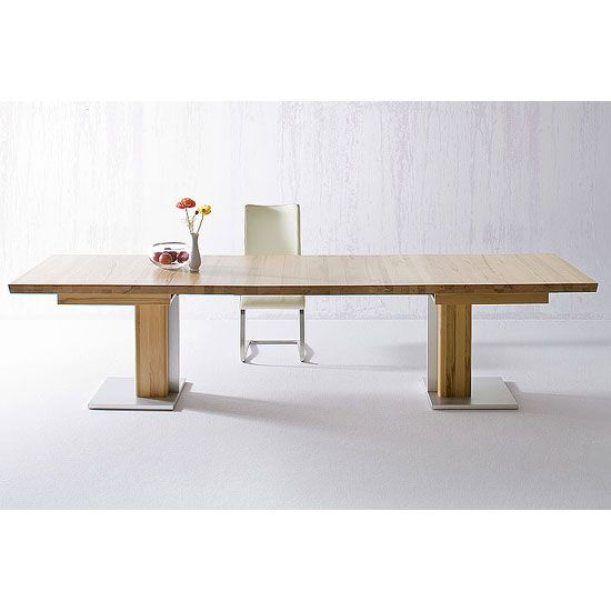 Bari Extendable Solid Oak Dining Table 180cm-330cm Columnar table in solid oak Additional Images are for illumination purpose only  Features: •Bari Extendable Solid Oak Dining Table &bul...