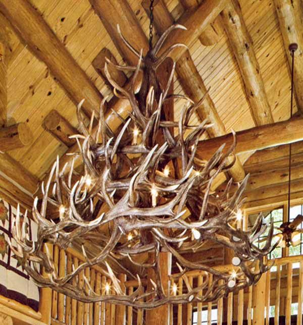 superb log cabin chandeliers #4: All Out Antler Chandelier, This is Awesome