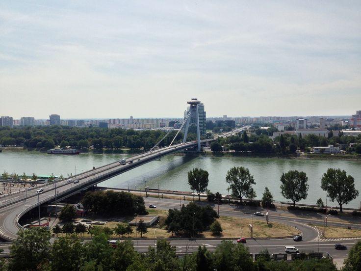 View from Bratislava Castle overlooking the Danube, Bratislava