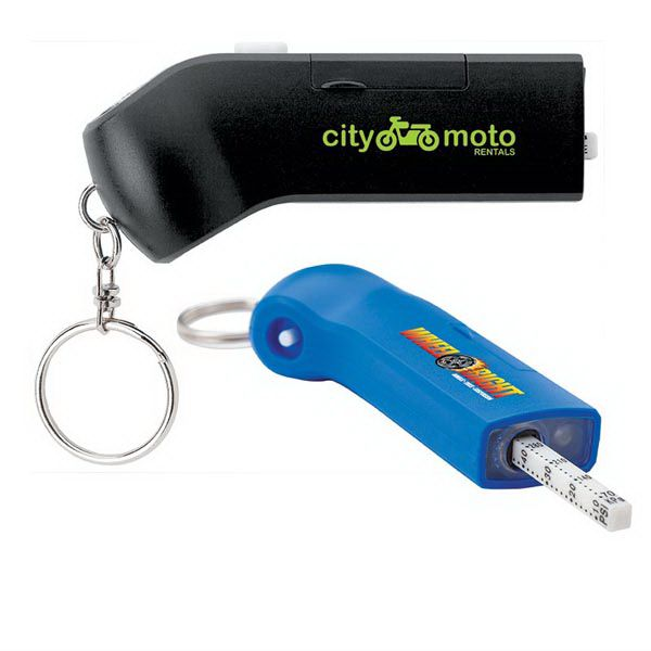 Auto tire gauge and split ring with LED light. Readings up to 50psi / 3.5 BAR / 350KPa.