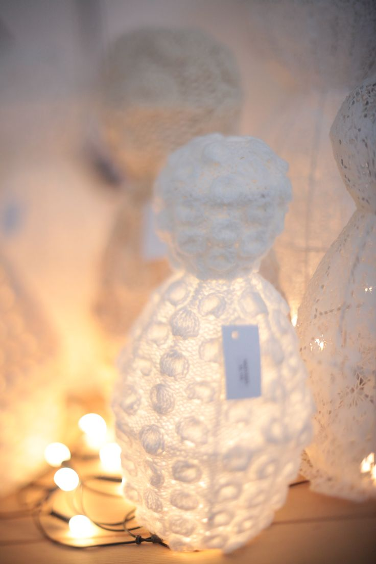 Grandma Design knit and crochet lamps