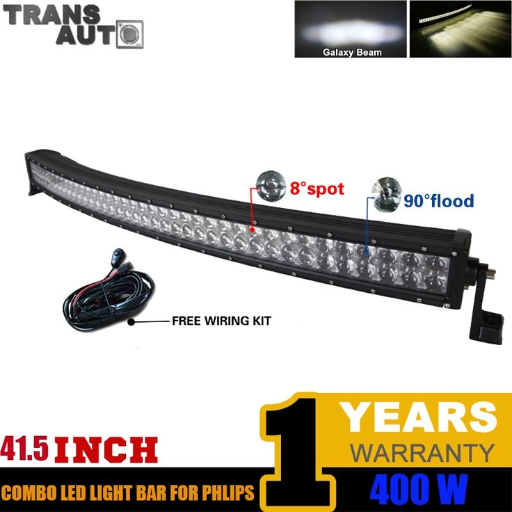 (202.82$)  Watch now  - 42 Inch 400W Led Work Curved LED Light Bar Combo Offroad work light for truck DC12V 24V Trucks Wagon ATV SUV Pickup 4WD 4x4