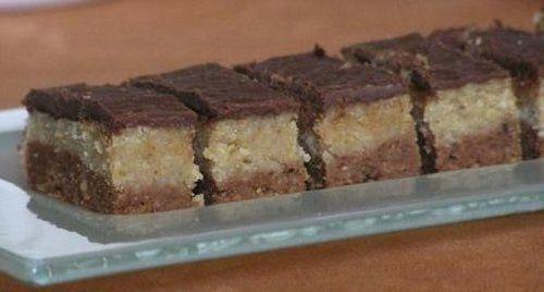 Édes, csokis, diós, ebben a sütiben minden benne van, amitől egy sütemény finom lehet :) Hozzávalók: 0,5 dl tej 20 dkg cukor 15 dkg darált dió 25 dkg darált keksz 20 dkg vaj 2 ek cukrozatlan kakaópor 5 dkg étcsokoládé 1 ek vaj Elkészítése...