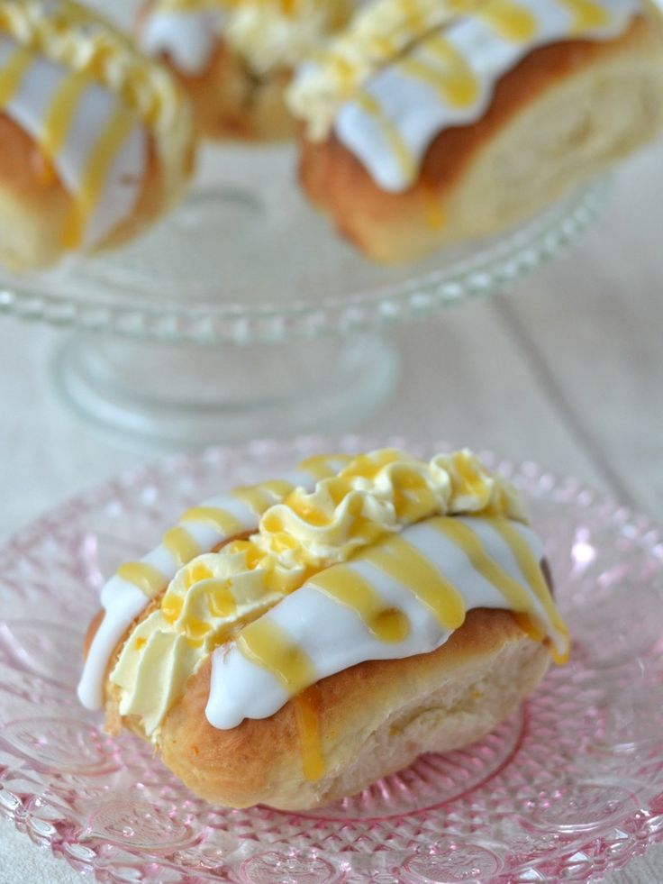 The Crazy Kitchen: Honey & Orange Filled Iced Buns