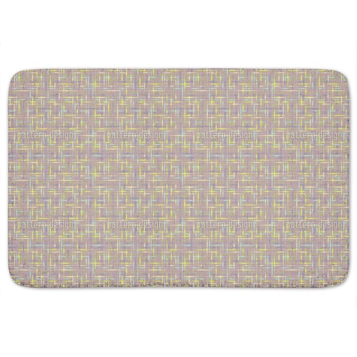 Uneekee Textus Brown Bath Mat
