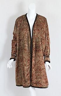 Fortuny stenciled velvet coat, c.1925