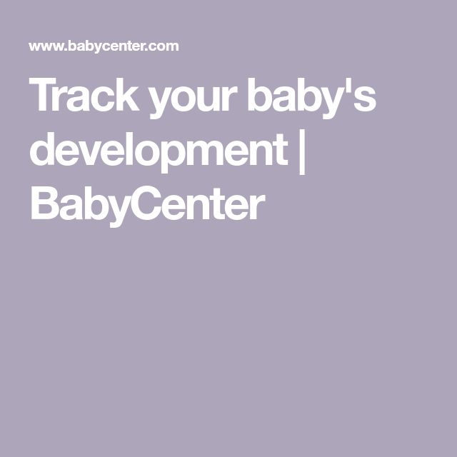 Track your baby's development   BabyCenter (With images ...