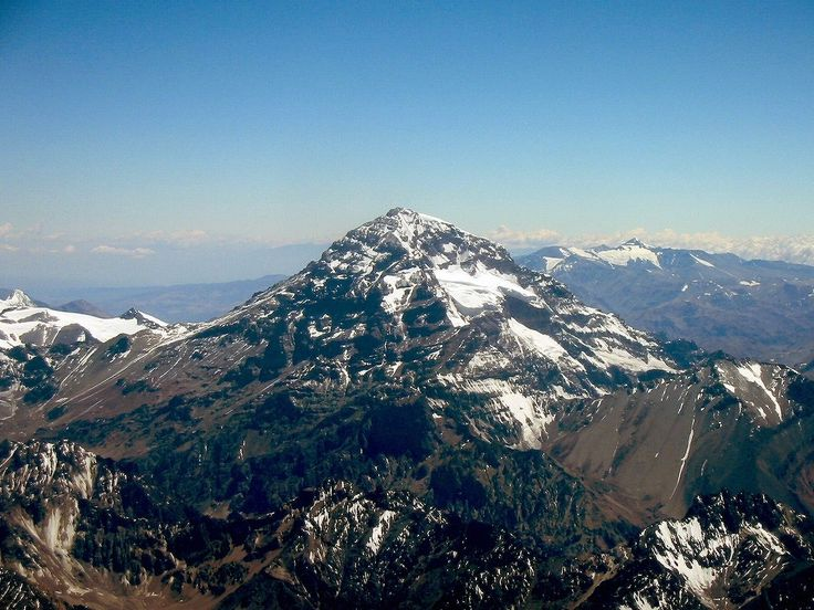 aconcagua - 6,962 m (22,841 ft) - situated in the andes mountain range in western Argentina, highest mountain in the southern hemisphere
