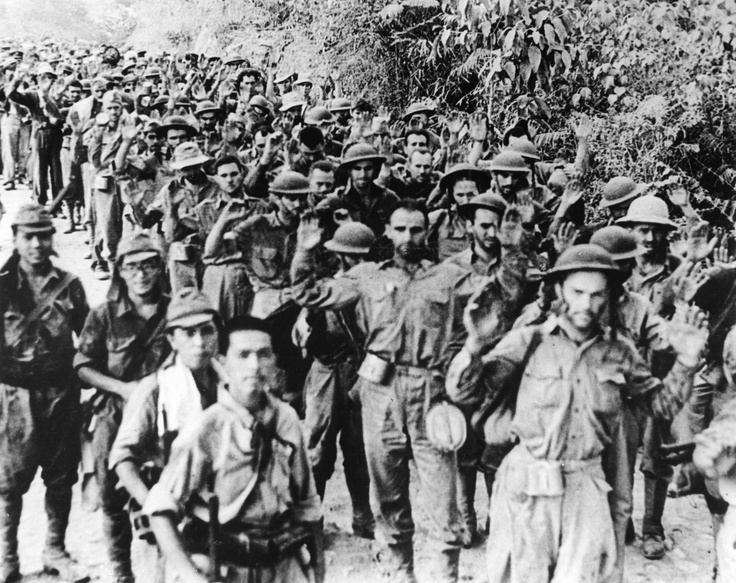 Bataan Death March, 1942 - the forcible transfer, by the Imperial Japanese Army, of 76,000 American and Filipino prisoners of war after the three-month Battle of Bataan in the Philippines during World War II, which resulted in the deaths of thousands of prisoners.