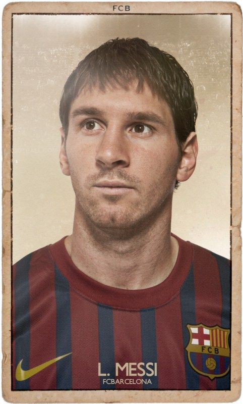 Messi. Nice FC BARCELONA Vintage Football Cards