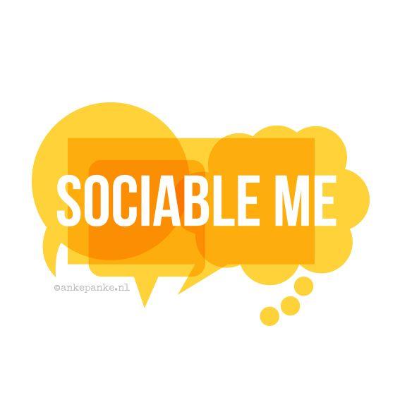 Logo design for Sociable Me (communication agency) by http://ankepanke.nl