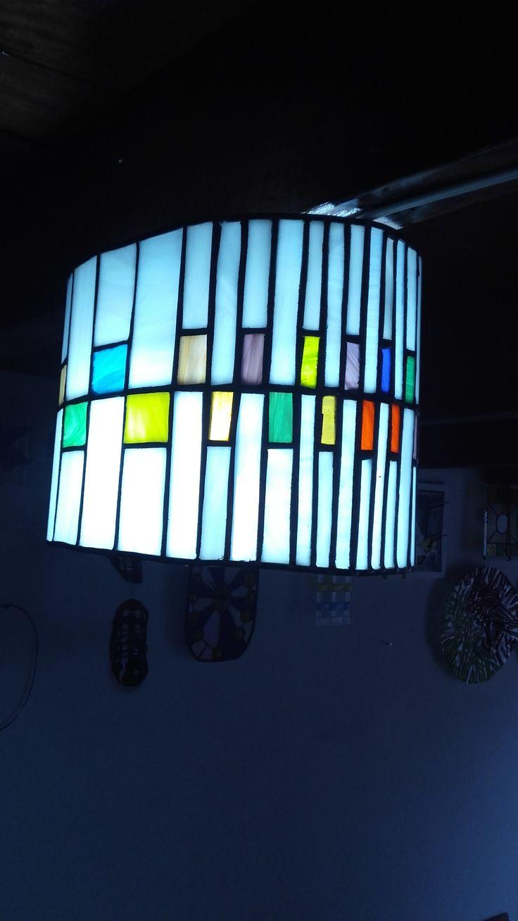 Vitral lampara de techo. ablvitrales@gmail.com