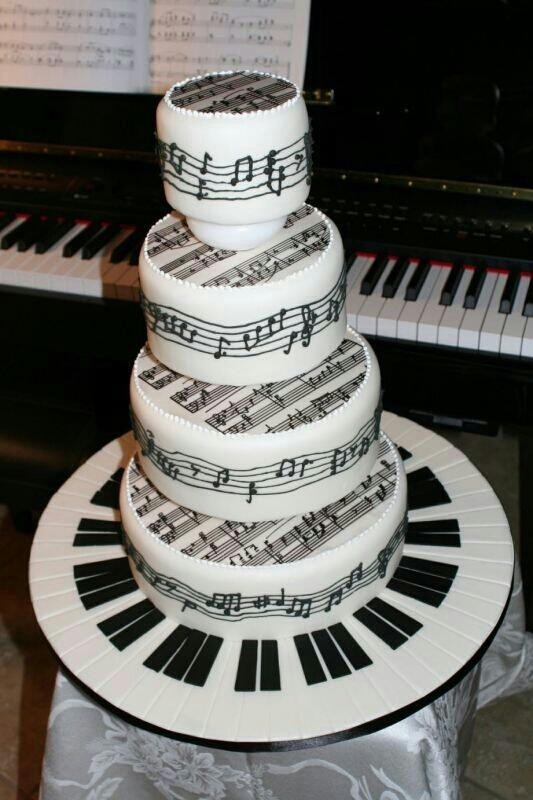 Tiered Piano Decorated Cakes
