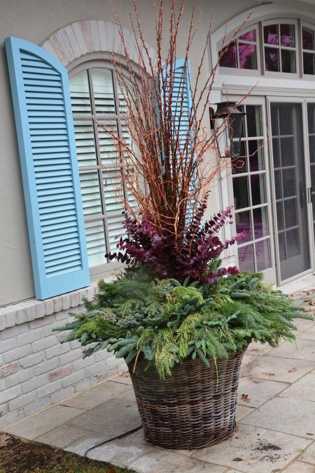 Pretty winter planter