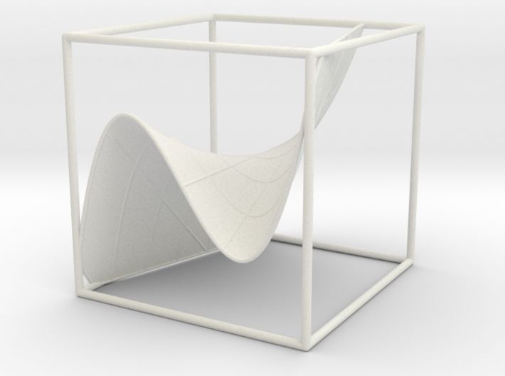 A 3d graph of cubic functions (with some curves) 3d printed