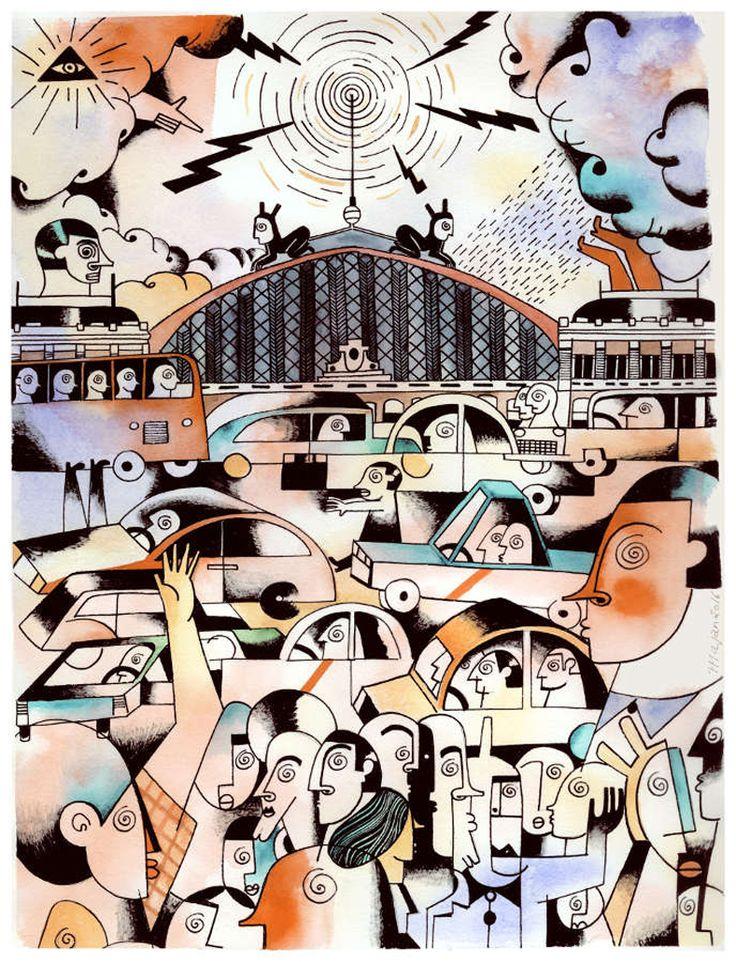 Madrid - Barcelona, una dualidad revisada en las ilustraciones de Sonia Pulido y Roberto Maján